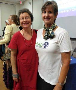 Pat DeWitt, AAUW FL President Elect and Theresa Owen, Co-President AAUW Flagler