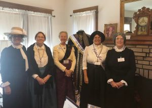 AAUW members dressed as Suffragists at Holden House
