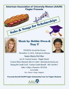 Scholarship Fundraiser flyer
