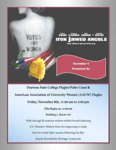 Flyer for Iron Jawed Angels film