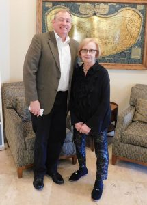 Speaker Dr. Michael Butler and Elinor Bozzone, Program Co-Chair