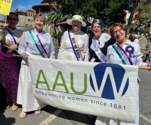 AAUW Members at the March and Rally