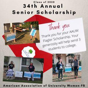 (Top photo) Alyssa Rose Santore (Bottom photos left to right) Sofja Paukova and Katherine O'Mahoney (Photo credit: Flagler County Education Foundation)