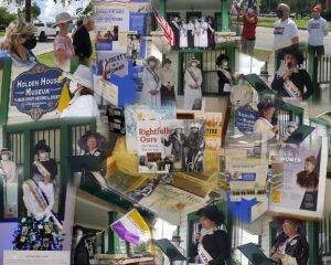 Women's Suffrage Flag Raising Collage