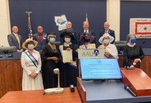 AAUW Flagler receives Women's Equality Day Proclamation from Flagler County Commission