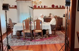 Gail Palmer and Marty Butler in Echoes of Suffrage documentary filming